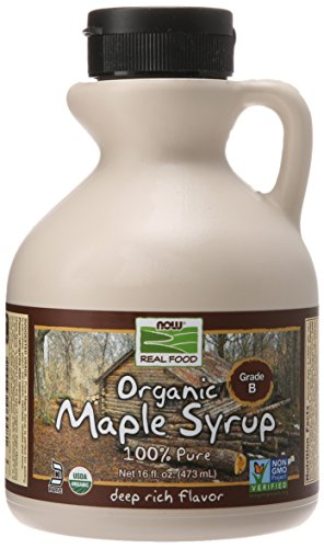 NOW Foods Organic Maple Syrup,Grade A Dark Color (formerly Grade B), 16-Ounce (Pure Syrup Maple Organic)