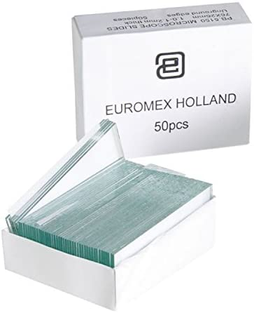 Kit portaobjetos de cristal Euromex para microscopio 50 unidades