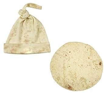 TOOGOO Burrito Blanket Flour Tortilla Swaddle Blanket Sleeping Swaddle Wrap Hat Set Home Accessories Sleeping Swaddle