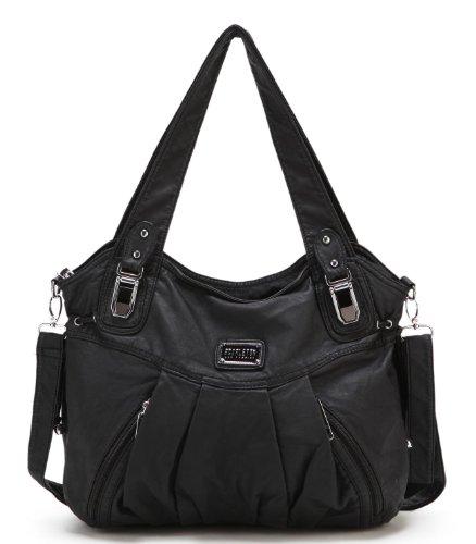 Amazon #LightningDeal 60% claimed: Scarleton Zipper Washed Shoulder Bag H1472
