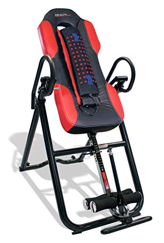 Health Gear ITM5500 Advanced Technology Inversion Table with Vibro Massage & Heat - Heavy Duty up to 300 lbs. (Best Inversion Table For Lower Back Pain)