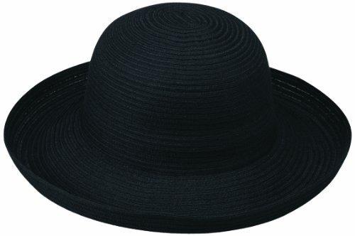 (Wallaroo Hat Company Women's Sydney Sun Hat - Lightweight, Packable, Modern Style, Designed in Australia, Black)