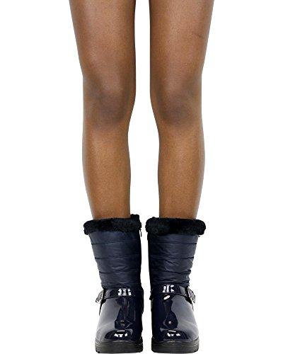 Stivale Invernale Da Donna Con Fibbia Adba One Gnd Fashion (disponibile In 2 Colori), Blu Navy, 6