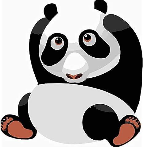 Qjhxd Dessin Animé Géant Panda Sans Cadre Art De La Famille