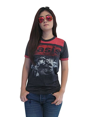Bunny Brand Women's Oasis UK Rock Band Music Ringer T-Shirt Jersey Thin Soft (Small)