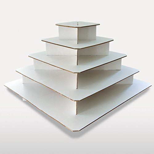 Best Cupcaketree Com Large Square Cupcake Stand With 5