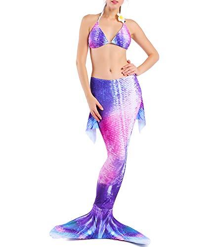 CHARMCZ Mermaid Tails for Swimming Women Swimsuits Girls Swimwear Bikini Set Support Monofin Swimmable Costume for $<!--$24.99-->
