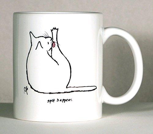 Cat Coffee Mug, Cat Mugs, Cat Humor Mug, Personalized Cat Mug, Pick Cat Color, Add Name or Message