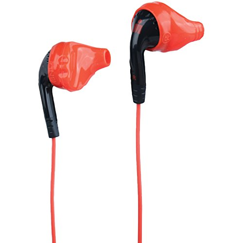 Yurbuds Ironman Inspire PRO Performance Fit Sport Earphones with 3-Button Control and Mic, Black/Red by Yurbuds