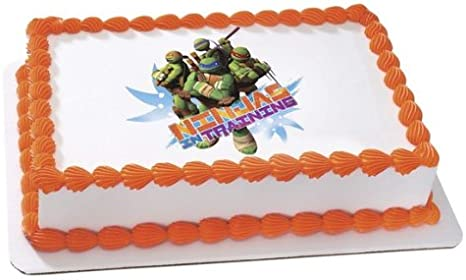 Awesome Amazon Com New Ninja Turtles Edible Cake Image Topper Everything Funny Birthday Cards Online Overcheapnameinfo
