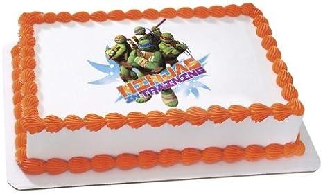 Marvelous Amazon Com New Ninja Turtles Edible Cake Image Topper Everything Funny Birthday Cards Online Benoljebrpdamsfinfo