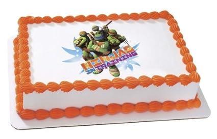 Amazoncom Teenage Mutant Ninja Turtles Edible Cake Topper