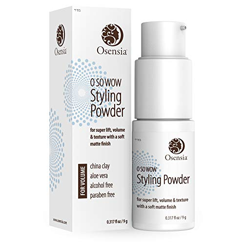Natural Volumizing Powder Dry Shampoo – Root Boost Texture Powder for Second Day Sexy Hair – Oil Absorbing Teasing Powder Shampoo and Volumizer with Aloe Vera and Kaolin White Clay by Osensia 9g