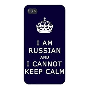 Apple Iphone Custom Case 5 5s Snap on - I Am Russian and I Cannot Keep Calm by icecream design
