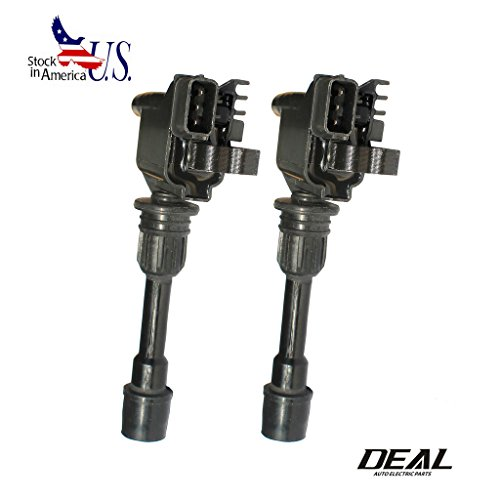 Deal Set of 2 New Ignition Coil Plug Pack For 01-03 Mazda Protege 02-03 Mazda Protege5 L4 2.0L UF407