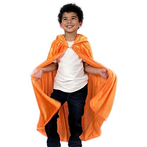 Kids Cosplay Hooded Cloak Cape - Orange]()
