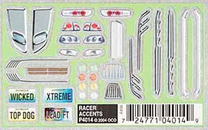 Pinecar Dry Transfer Decals, Racer Accents, -