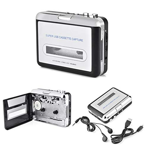 Value-5-Star - USB Cassette Tape to PC MP3 CD Switcher Converter Capture Audio Music Player with Headphones