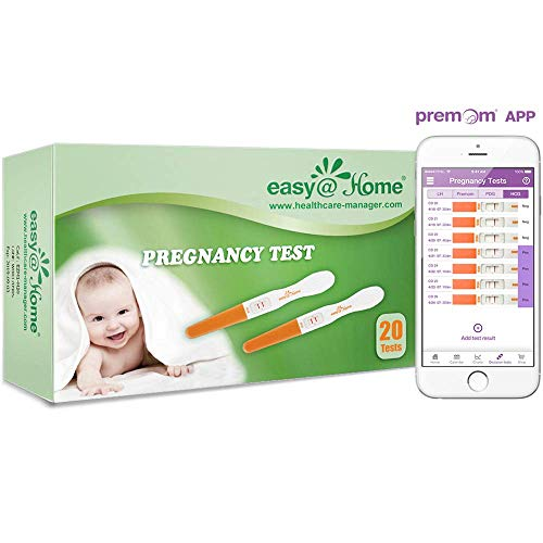 Easy@Home Early Pregnancy Tests, 20-Pack HCG Midstream Tests, FSA Eligible, Powered by Premom Ovulation Predictor iOS and Android APP, 20 hCG -