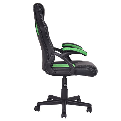 Ltl Green And Black Bucket Seat Racing Style Office Chair