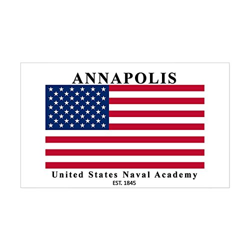 CafePress - USNA Ensign Rectangle Sticker - Rectangle Bumper Sticker Car Decal
