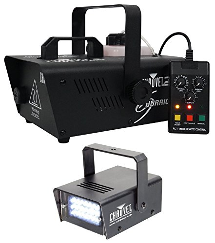 Package: Chauvet DJ H1200 Hurricane 1200 Compact Fog Machine With Wired Timer Remote + Chauvet DJ MINI STROBE LED Compact Easy-to-use Strobe Light by CHAUVET DJ