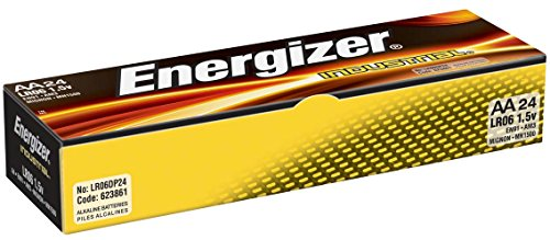 Energizer Industrial AA Alkaline Batteries, 24 Count (Pack of -