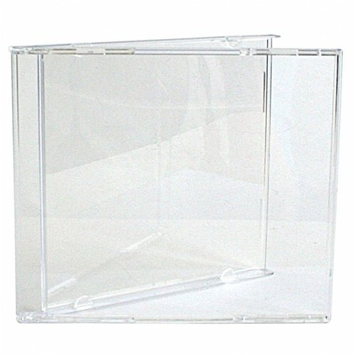 mediaxpo Brand 100 Standard CD Jewel Case (Carton Only, NO Trays) - Tray Jewel Clear Case