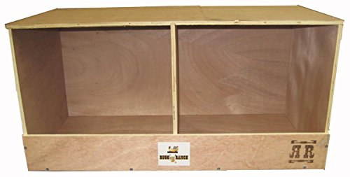 Rugged Ranch Products DUPLEX Nesting Box for Chicken, 12 by 12 by 12-Inch