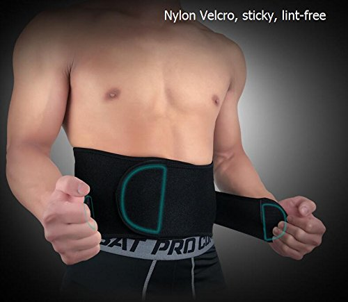 EDTara Back Brace Professional Support Belt Waist Trimmer Belt for Sitting,Walking, Sports,Training Fitness Relief from Back Pain, Herniated Disc etc. by EDTara (Image #5)