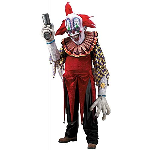 (Scary Clown Costume Adult Giggles Creature Reacher Monster Halloween Fancy)