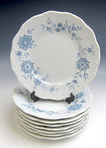 Lot of 8 Christina China BAVARIAN BLUE Bread and Butter Plates EXCELLENT (China Patterns Bavarian)