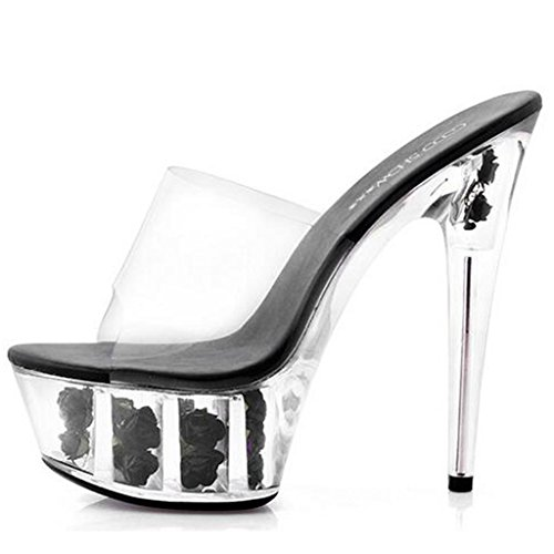 Sandales Plate forme Femmes Fine Fond E Chaussures À Épais Des Cristal En Pantoufles Talons Avec Imperméable Llp Hauts nOfvqPBB