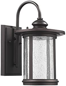 """Chloe CH22L26RB13-OD1 Lighting 13"""" Height Transitional LED Rubbed Bronze Outdoor Wall Sconce"""