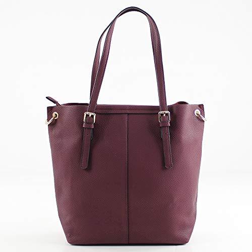 Shopper w L H 14x30x38 X Cm Eferri Mujer Rojo burdeos Nápoles PdqSwg