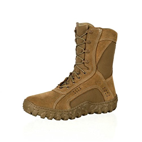 Rocky Mens Coyote Brown Leather S2V Tactical PTFE Military Boots 10 M