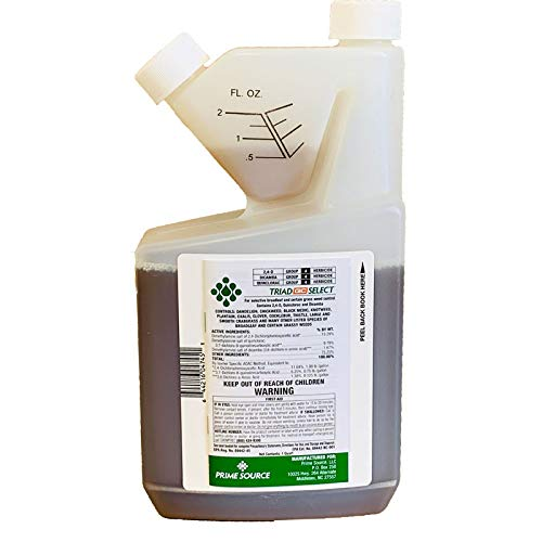 Prime Source Triad QC Select - Herbicide (Quart)   Controls Dandelion, Clover, and Many Other Broadleaf Weeds and Grassy Weeds