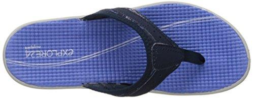 Easy Spirit Dames Yindaloo Flip Flop Blauw / Multi