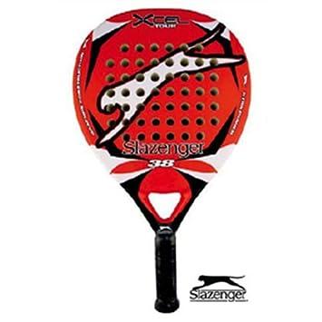 Slazenger Xcell Tour - Pala de pádel, talla 38 mm, color rojo: Amazon.es: Deportes y aire libre