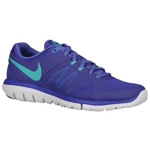nike womens flex 2014 RN running trainers 642767 sneakers shoes (us 5.5, dark concord hyper jade purple haze white - Concord The Mall
