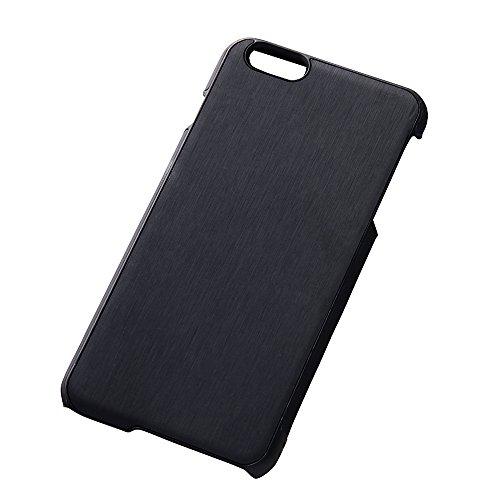 Open Type Texture Leather Style Jacket for iPhone 6 Plus (Hairline Black)