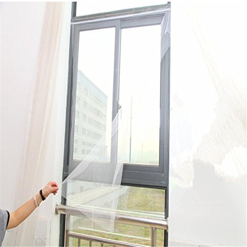 Fission Insect Fly Mosquito Door Window Net Mesh Screen Curtain Protector Flyscreen (White, 130x155cm)