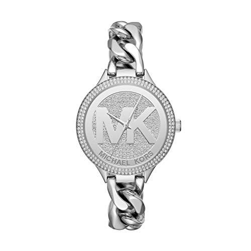 Michael Kors Women's Slim Runway Silver-Tone Watch MK3473 (Cyber Monday Sales On Michael Kors Watches)