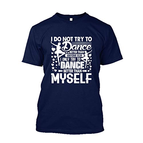 Zira Frog Ballet Dancer Shirts, Adult Short Sleeve Tee Shirt (S,Navy)