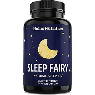 Sleep Fairy Natural Sleep Aid | Non-Habit Forming | Anxiety & Insomnia Relief Supplement | Herbal Sleeping Pills for Adults w/Valerian Root, GABA, L-Theanine, Magnesium, Melatonin | 60 Vegan Caps