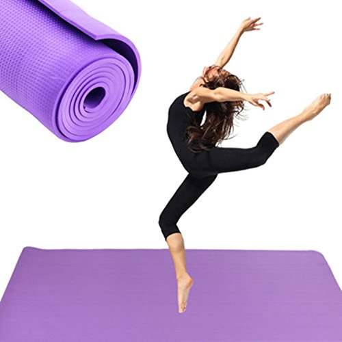 Amazon.com: Lessonmart New Extra Thick Non-Slip 6mm Yoga Mat ...