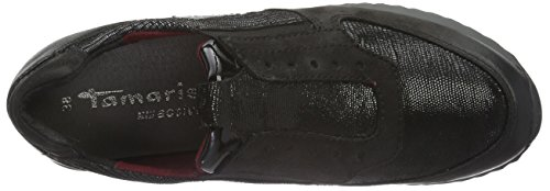 Black 2 Comb Tamaris UK Loafers 098 Black 24602 Black Women's T0R6U