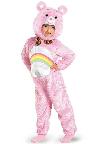 Mememall Fashion Care Bears Cheer Bear Deluxe Plush Toddler Costume (Adult Care Bears Cheer Bear Costume)