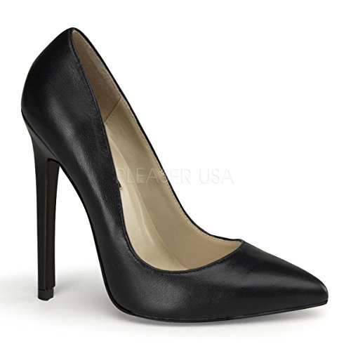 Pleaser SEXY-20 Blk Leather Size UK 5 EU 38