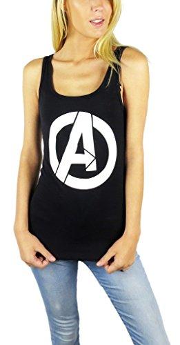 Marvel Womens Avengers Logo Tank Top (Avengers Black, Medium)